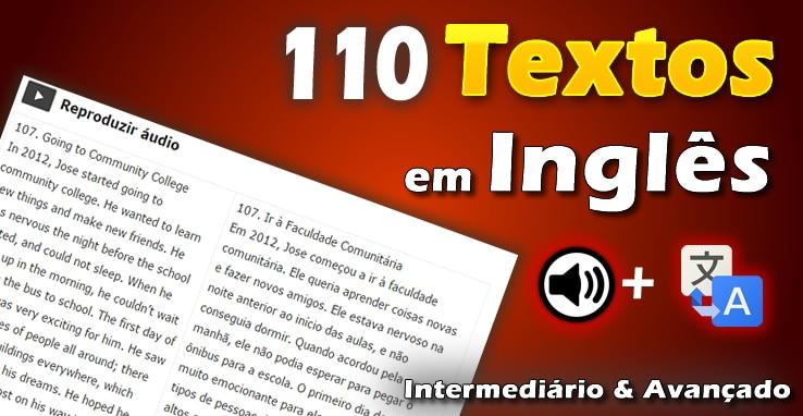 Aula De Ingles Basico Aprender Profissoes Em Inglês Com: 110 Textos Em Inglês Intermediário E Avançado Com áudio E